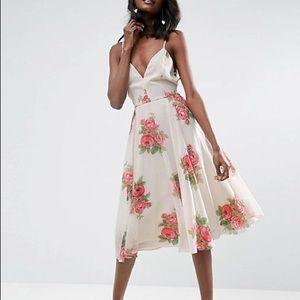 ASOS Rose Floral Cami Midi Dress